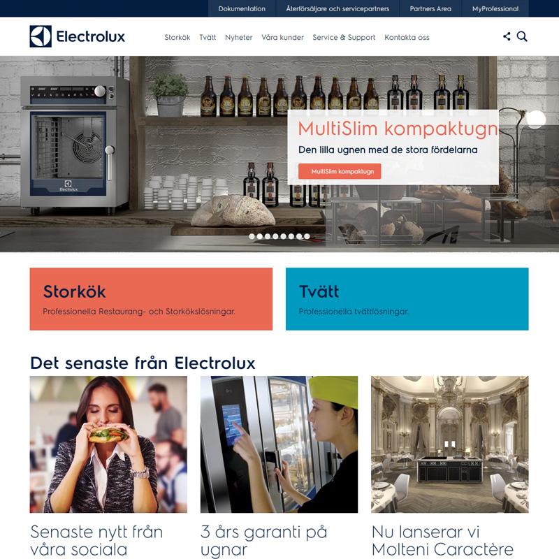 Digital marknadsföring för Electrolux Professional