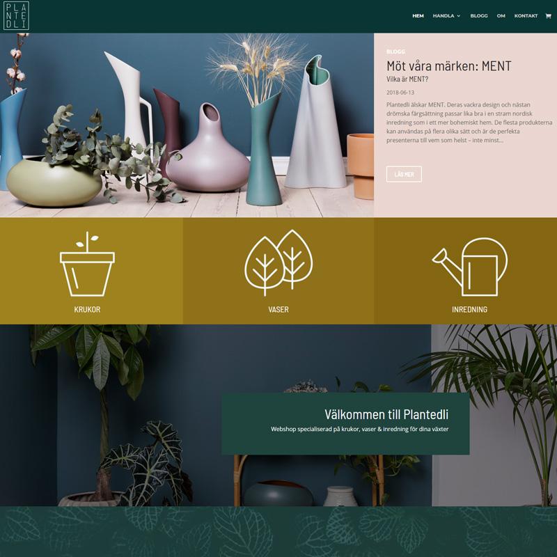 Webshop till Plantedli