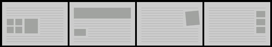 Placeringsexempel av bilder
