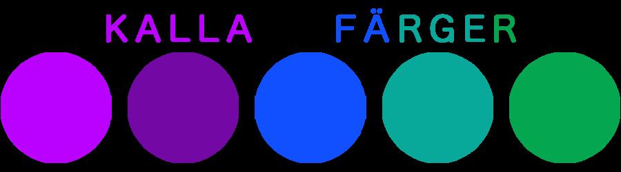färger hemsida - kalla färger: lila, blått, grönt
