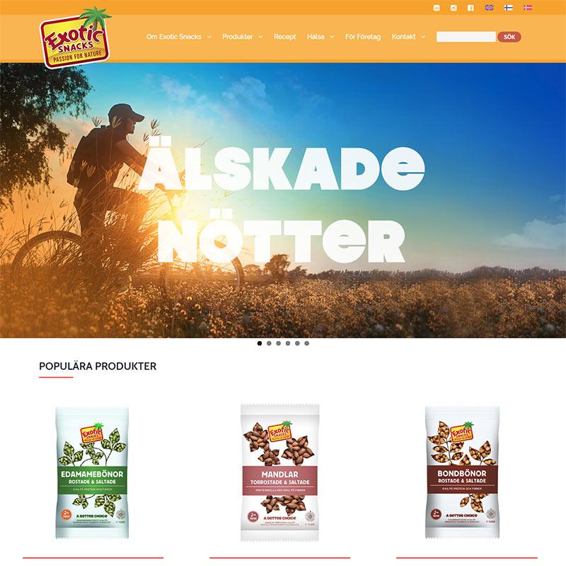 Hemsida i WordPress till Exotic Snacks